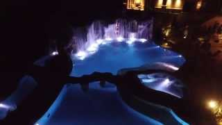 Pirate Theme Pool With Hidden Treasure Room and Animated Pirates by Caviness Landscape Design