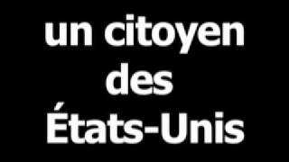 French word for American citizen is uncitoyendesÉtats-Unis