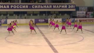 Чемпионат России по синхронному катанию  КМС  КП 7 Кристалл Айс МОС