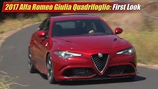 2017 Alfa Romeo Giulia Quadrifoglio: First Look