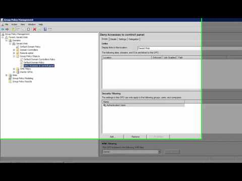 Windows Server 2008 R2 - Creating a Group Policy and implementing it