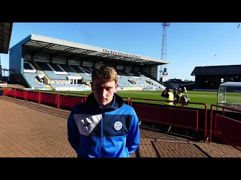 John Robertson speaking to Saints TV following his debut for the first team against  Dundee