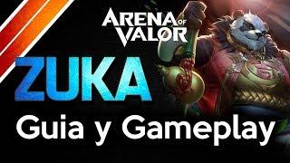AoV ZUKA Guia y Gameplay ARCANAS Y TOP BUILD   Arena Of Valor   DayMelto Gameplay Español