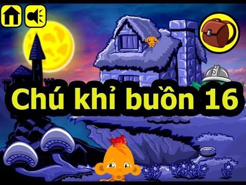 Chú khỉ buồn 16, Chơi game chú khỉ buồn online tại Gamehay24h.vn