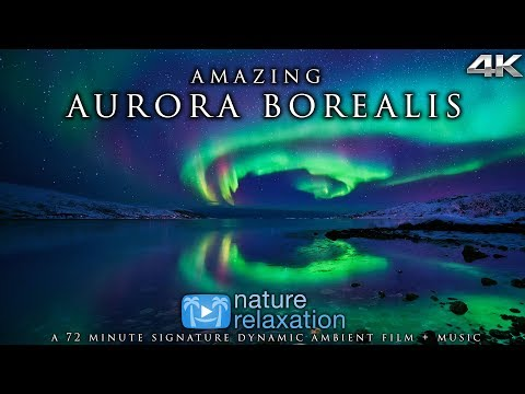 Real-Time Northern Lights in 4K + Healing Music | Alaska's Auroras | Nature Relaxation Film Mp3