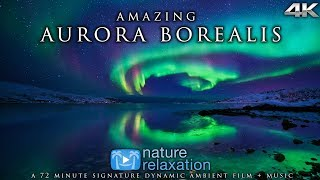Real-Time Northern Lights in 4K + Healing Music | Alaska's Auroras | Nature Relaxation Film