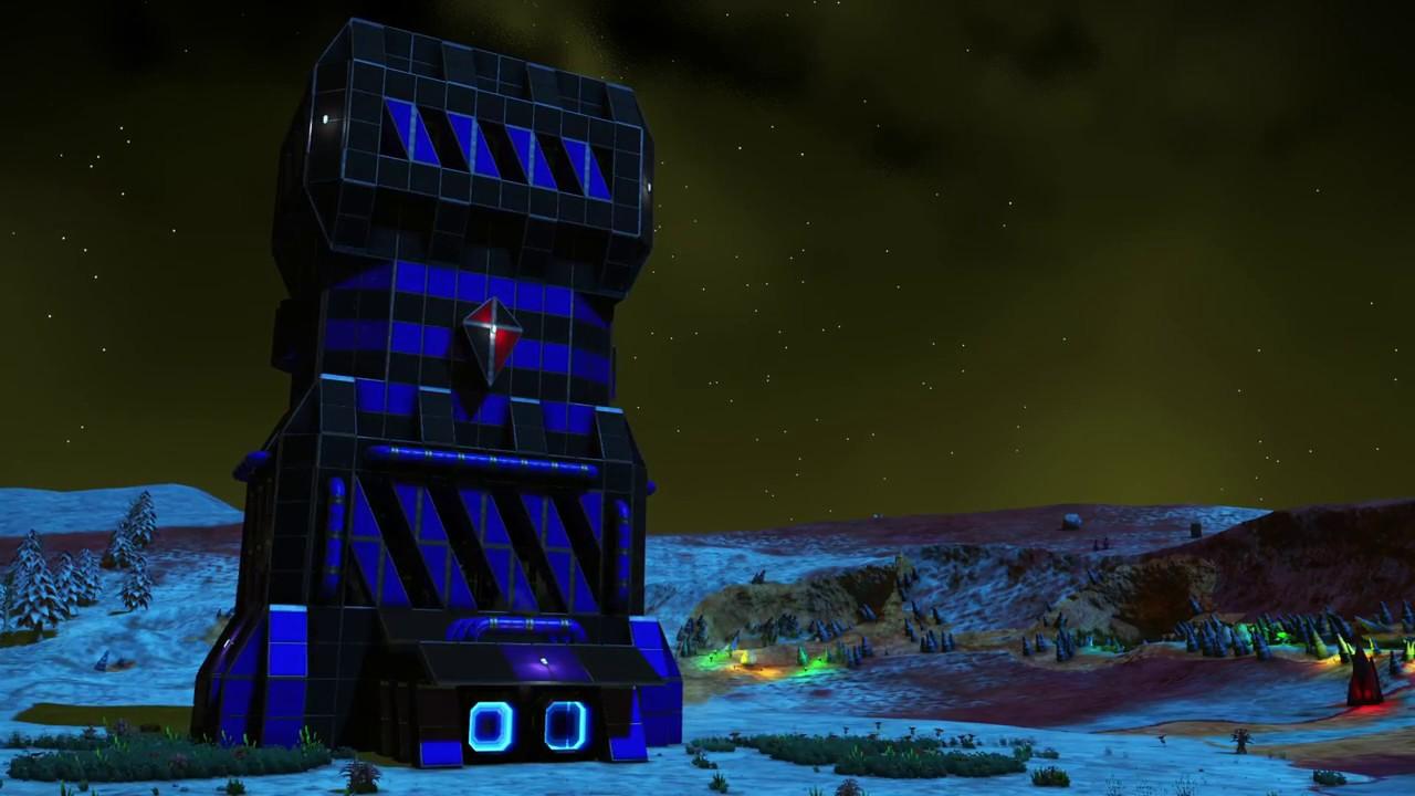 no man 39 s sky korvax command tower base design youtube. Black Bedroom Furniture Sets. Home Design Ideas