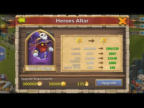 Castle Clash - My 6 Star Hero Spirit Mage