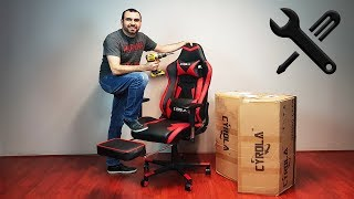 CYROLA gaming chair assembly video INSTRUCTIONS