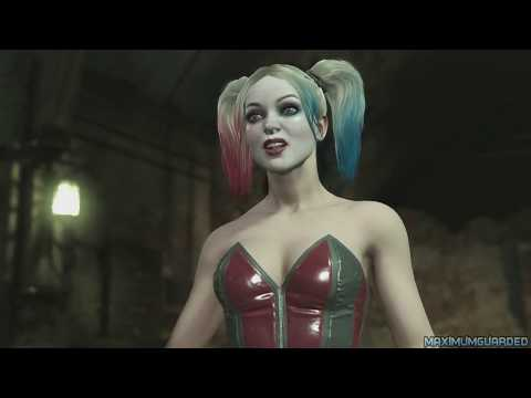 Injustice 2 - Joker vs Harley Quinn - All Intro Dialogue, Super Moves And Clash Quotes