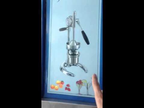 เครื่องคั้นน้ำส้มมือกด結合橙汁新聞Combine orange juice press เซลพลคนสร้างอาชีพ