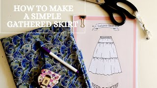 How to make a simple gathered skirt