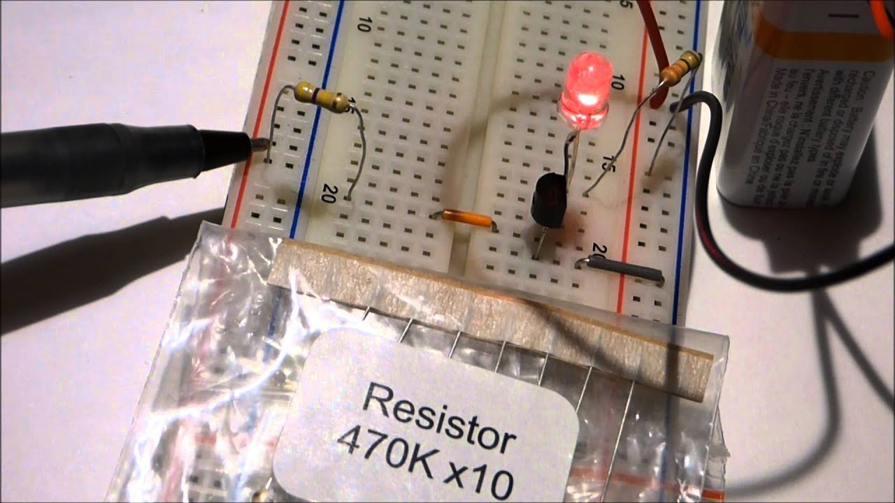 Npn 2n Transistor Component As Switch And Amplifier