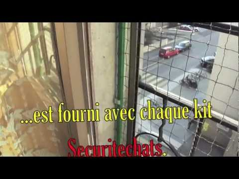 Filet antifugue pour chat monter sur vos fen tres youtube - Protection fenetre chat ...
