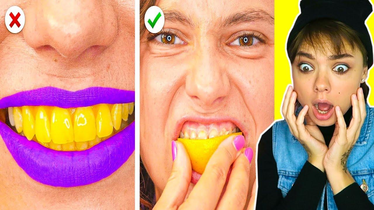 Удивительные Лайфхаки с Лимоном! Отбеливаем Зубы Лимоном?:)