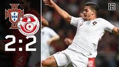 Ohne Cristiano Ronaldo nur Remis: Portugal - Tunesien 2:2 | Highlights | Länderspiel | Goal | DAZN