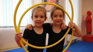 Занятие с Обручем для детей Часть 1 Детский канал Masha & Karina