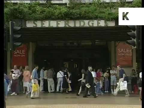 1994 Oxford Street Shops, Marks and Spencer, Dixons, Selfridges