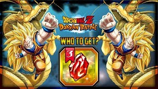 WHO TO GET WITH THE RED DRAGON STONE?! DBZ Dokkan Battle