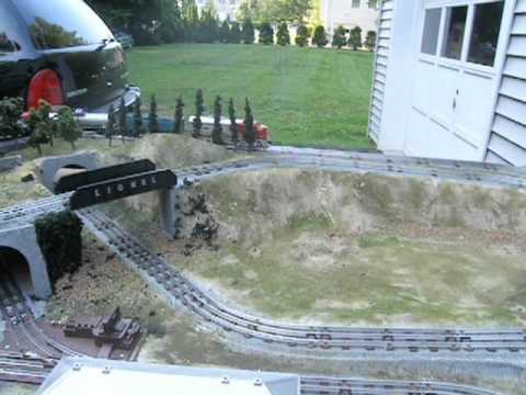 O Gauge 4' x 8' Layout for maximum Train Action - YouTube