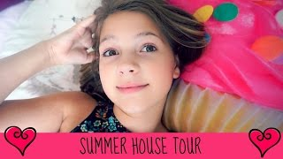 Summer Vacation House Home Tour | Jet Lag & Roof Climbing