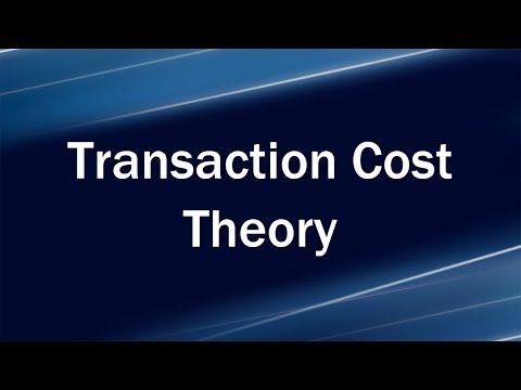 Transaction Cost Theory And Transaction Cost Sources