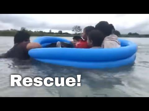WATCH: Border Patrol Agents Rescue Immigrant Family In Rio Grande River