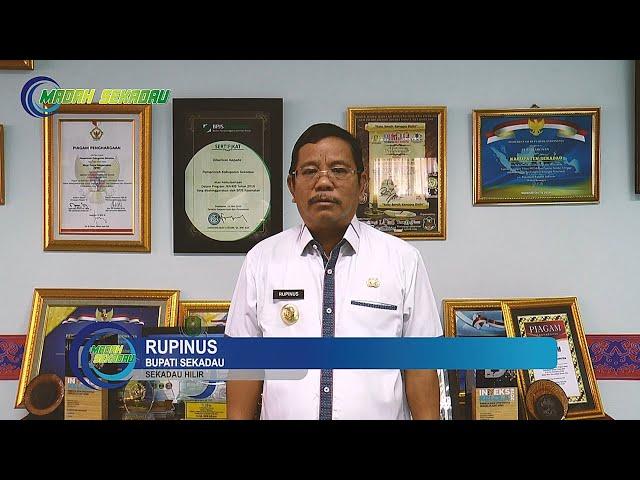 Greeting Bupati Sekadau Rupinus - Ulang Tahun Kodam XII Tanjung Pura Pontianak ke-62 Tahun