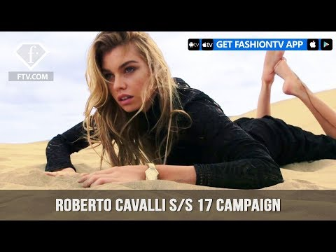 Stella Maxwell in Roberto Cavalli's Dreamy S/S 17 Collection Campaign| FashionTV | FTV