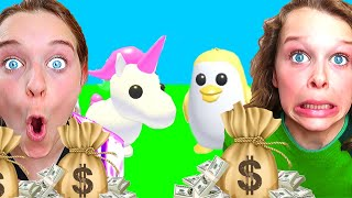 FAMILY WITH MOST MONEY WINS IN ADOPT ME Roblox Gaming w/ The Norris Nuts