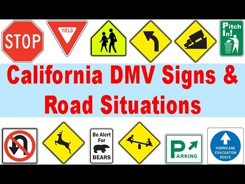 2018 California DMV Signs & Road Situations Practice Test - 50 Questions