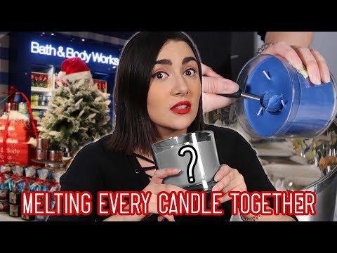 Melting Every Candle From Bath & Body Works Together