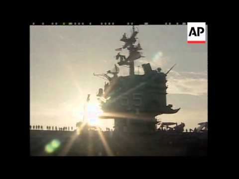 EGYPT: USS ENTERPRISE/DETROIT SUPPLY SHIP IN THE SUEZ CANAL
