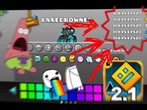 Como Tener Todo Infinito Y Desbloqueado En Geometry Dash 2.1!! || LAXEDROWNER