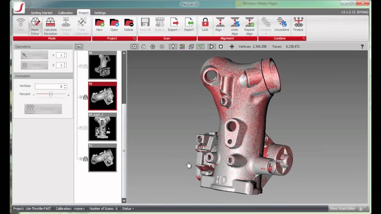 Preview of FlexScan3D 3 1 3D Scanner Software: Combine Feature