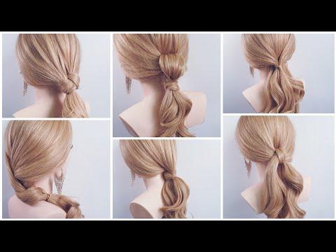 긴머리 예쁘게 묶는법 긴머리헤어스타일~easy hairstyle 簡単なヘアスタイル Gaya Rambut Mudah 简单发型、发型、盘头 thumbnail