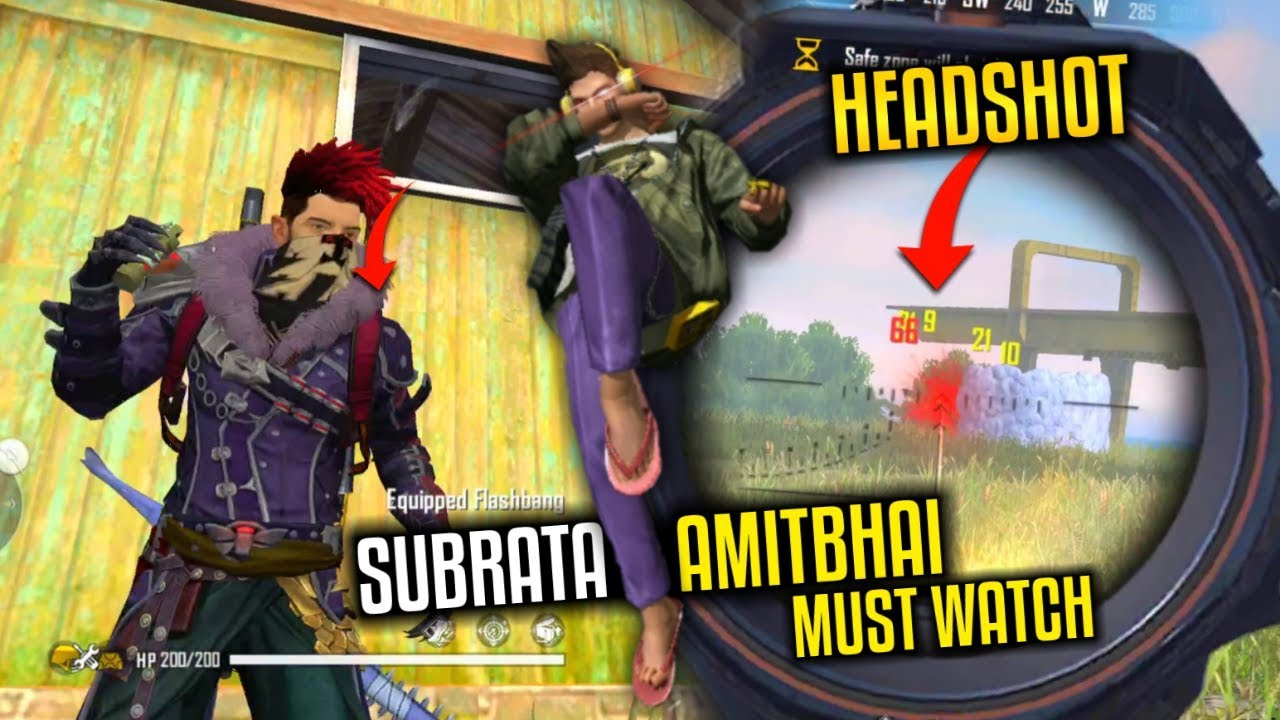 2 AWM Free Fire Play with Subrata and Amitbhai - Garena Free Fire