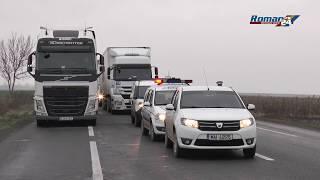 Accident pe E 85 intersecția cu drumul spre Săbăoani