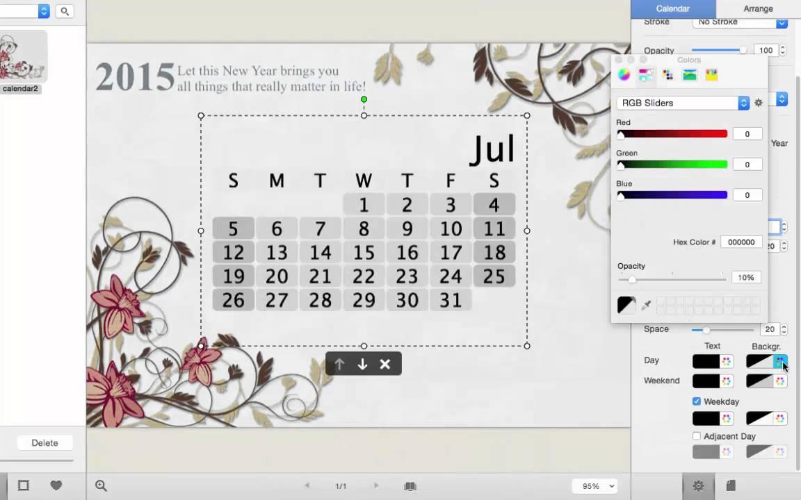 How To Make A Customized Photo Calendar On Mac Youtube