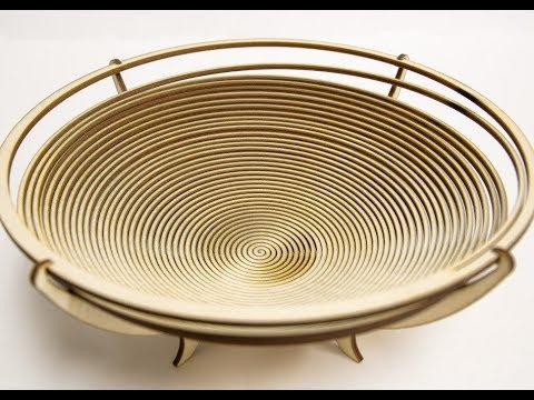 Laser Cut Wooden (Birch) Bowl Decor - Free File