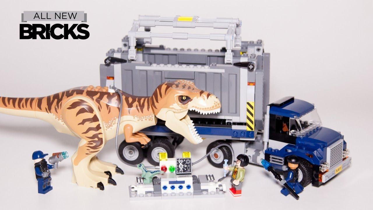 Lego Jurassic World 75933 T Rex Transport Lego Speed Build Youtube