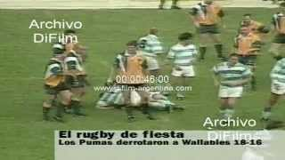 DiFilm - Los Pumas vs Wallabies - Rugby Internacional Match 1997