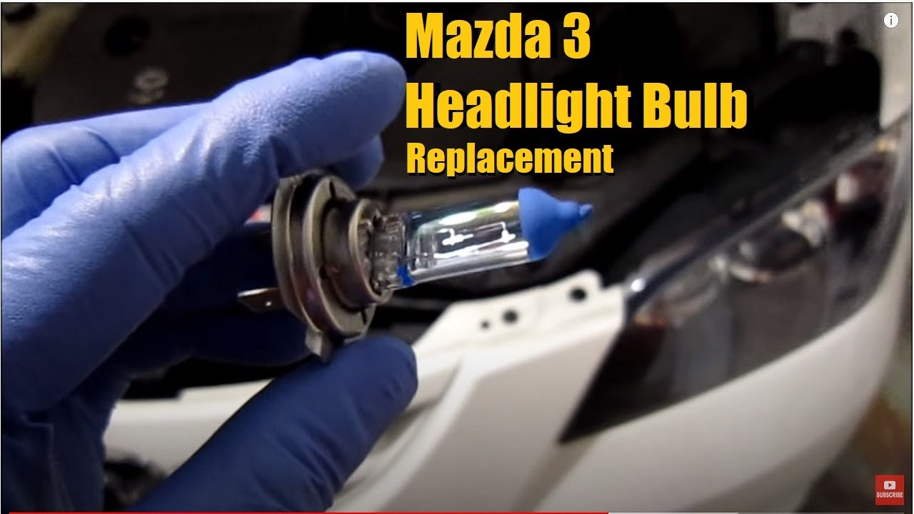 mazda 3 headlight bulb replacement youtube rh youtube com Mazda 3 Headlight Bulb Connector 1998 Mazda Protege Headlight Bulb