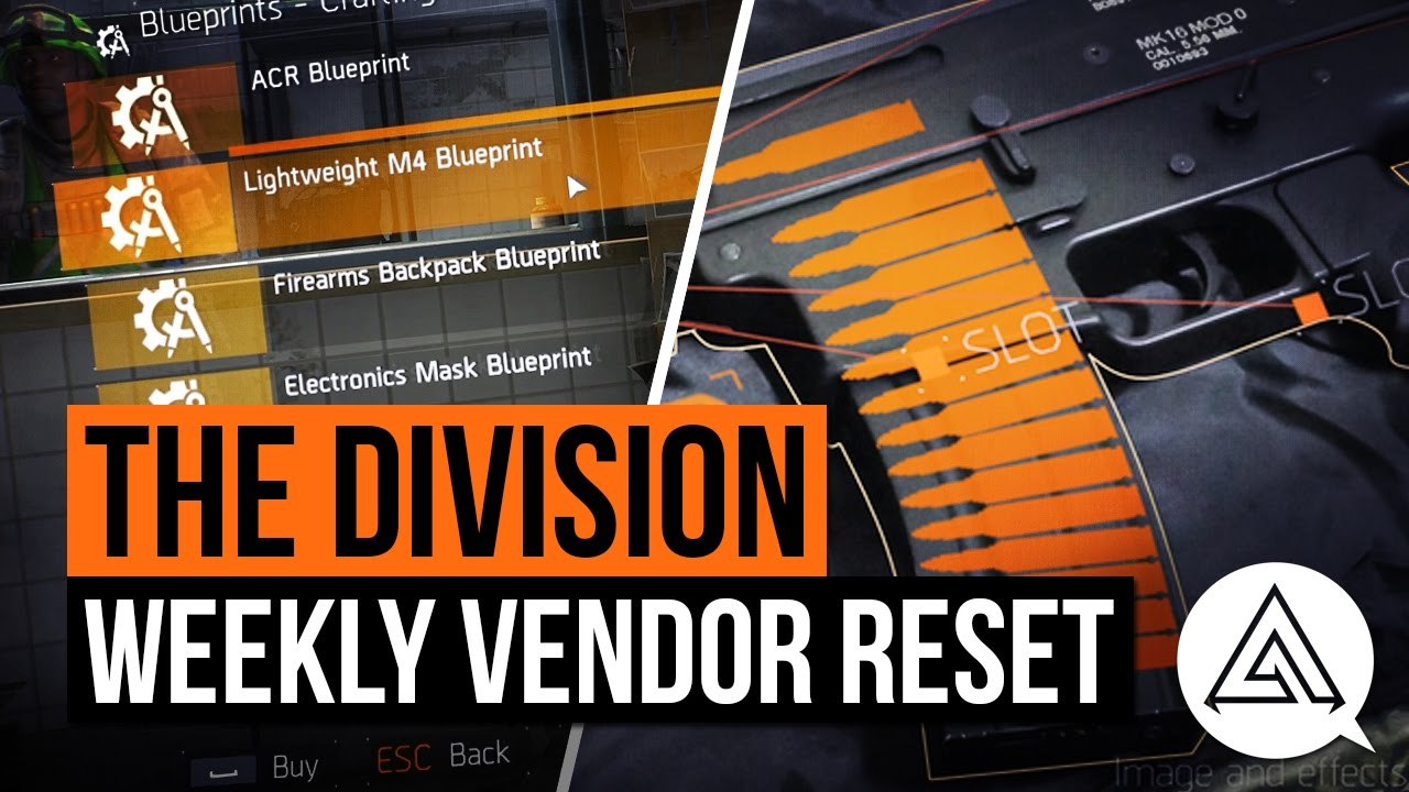 The division weekly vendor reset lightweight m4 blueprint march the division weekly vendor reset lightweight m4 blueprint march 18th malvernweather Images