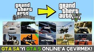GTA SAN ANDREAS 'I GTA 5 Online GİBİ OYNAMAK - MTA GTA 5