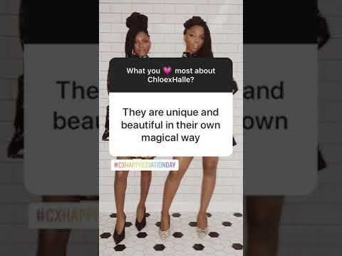 bc957283a3f It s Chloe x Halle Appreciation Day!  CxHAppreciationDay - YouTube