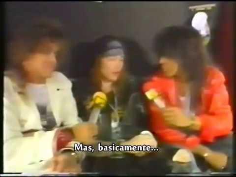 Entrevista com Axl Rose em ônibus de turnê – Donington, 1988 (legendado pt-br)