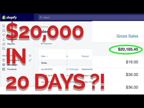 HOW I DROP SHIPPED $20,000 IN 20 DAYS WITH SHOPIFY - I'M 19