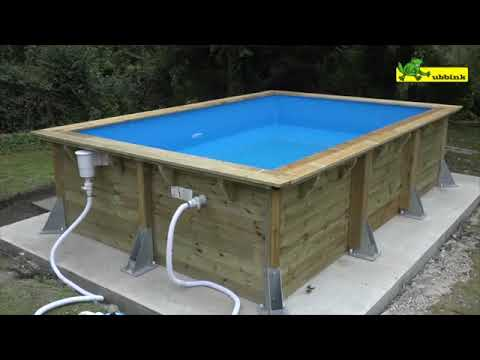 montage piscine hors sol en bois rectangulaire ubbink youtube