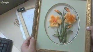 Вышиваем ЛЕНТАМИ цветок весны НАРЦИСС